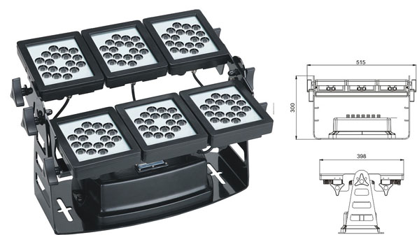 Led drita dmx,e udhëhequr nga puna,Rondele mur 220W Square LED 1, LWW-9-108P, KARNAR INTERNATIONAL GROUP LTD